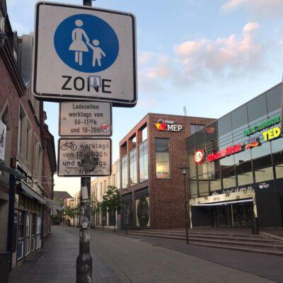 Bahnhofstraße Meppen Freigabe Fahrradverkehr