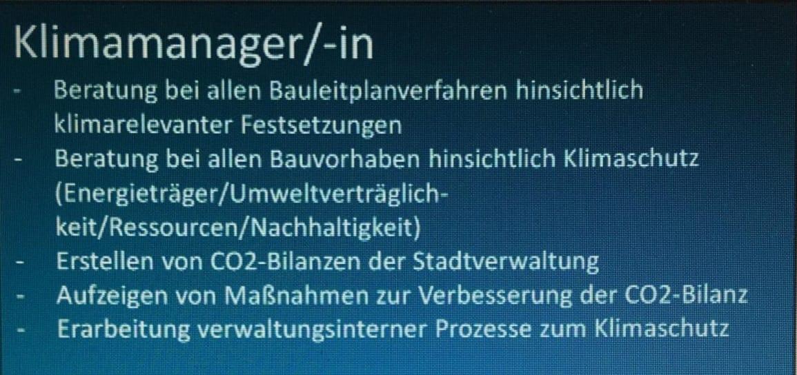 Klimamanager der Stadt Meppen - Stellenausschreibung